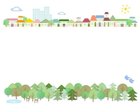 Town and forest