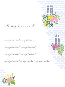 Flower postcard by the window 02