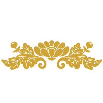 飾り菊(金)