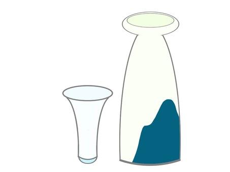 Tokutoshi and Cold Sake Glass