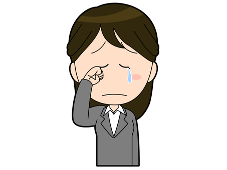 Woman employee in a suit to cry _ 018