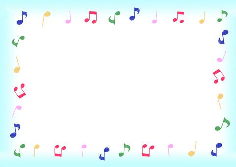 Musical note frame ①