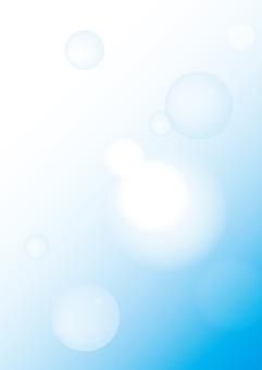 역광과 비누 방울