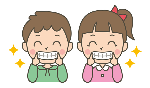 Tooth shiny smile (man and woman)