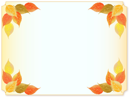 Fallen leaf frame
