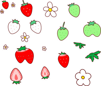Various shapes of strawberries