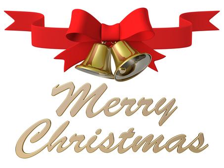 Merry Christmas Bell Ribbon 1