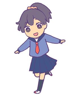 Female student 4 (Sailor · winter clothes)
