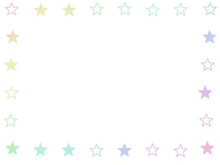 Pastel star frame