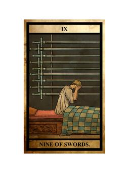 Tarot sword 9