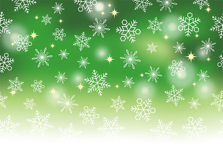 Seamless snow background Green