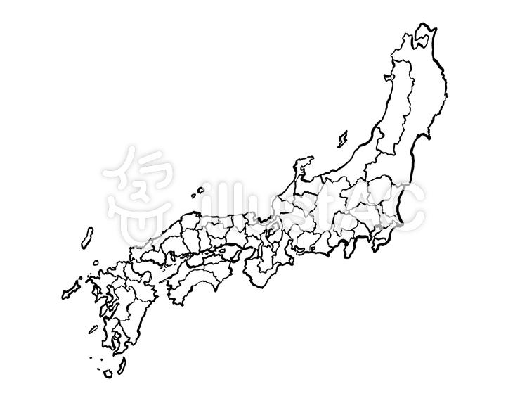 旧国名地図 白地図イラスト No 1049543無料イラストならイラストac