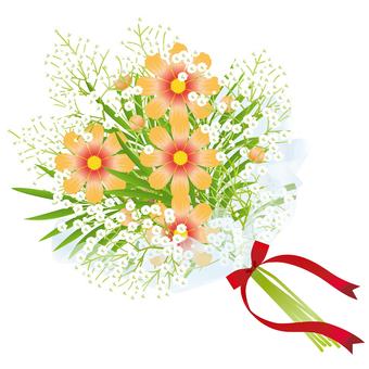 Cosmos & flower bouquet of grazing grass 19