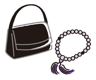 Formal bag and rosary