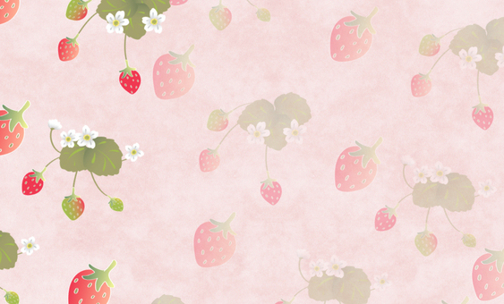 Card (business card) size _ strawberry (pink background)