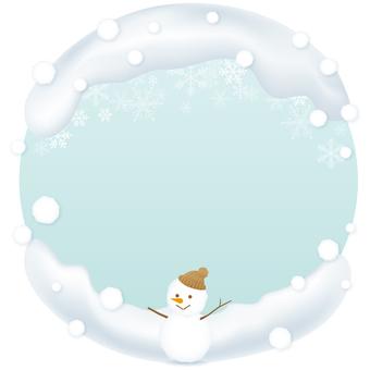 Snowy round banner