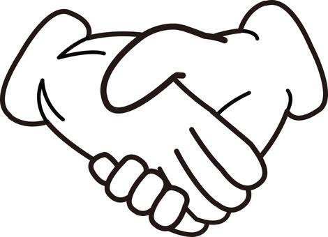 Hand series hand glove handshake
