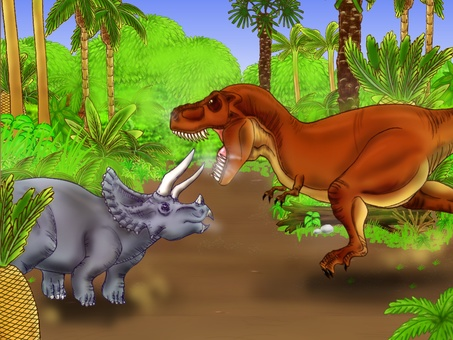 Showdown of the dinosaurs