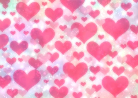Dull color heart full-length wallpaper