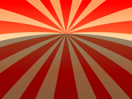 Horizontal line type radiation background (red)