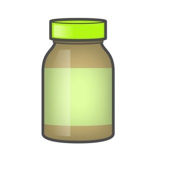 Medicated bottle _ light brown