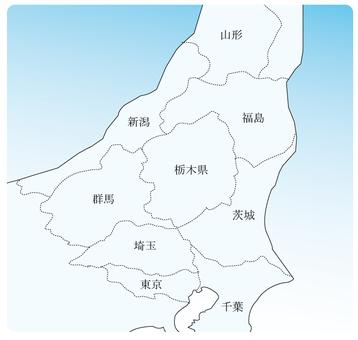 관동 동북지도