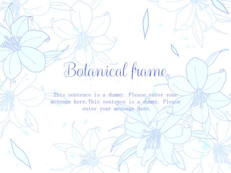 百合框/藍色b
