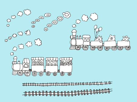 Train POP (Pen painting set)