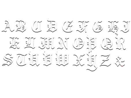 Alphabet three-dimensional