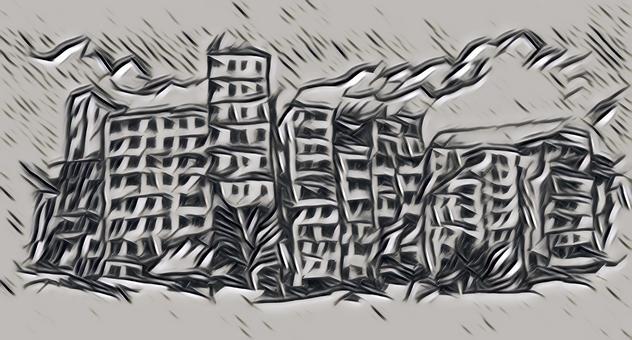 Ruins-Drawing Art