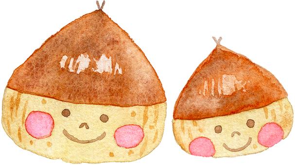 Chestnut parent and child