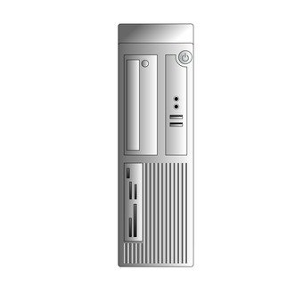 Mini tower type personal computer (silver)