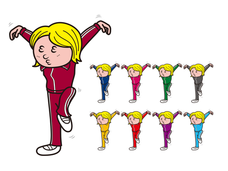 Red bean jersey - crane dance _ colorful