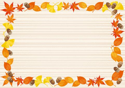 가을 프레임 테두리