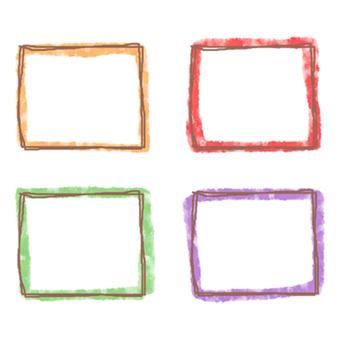Square frame set with border color