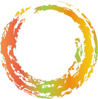 Autumn coloring circle
