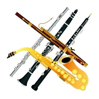 Clarinet, flute, bassoon, oboe and saxophone