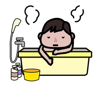 Male in bath