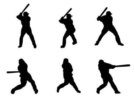 Batting silhouette