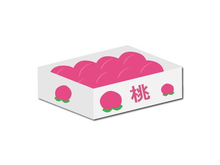 Illustration box material of peach