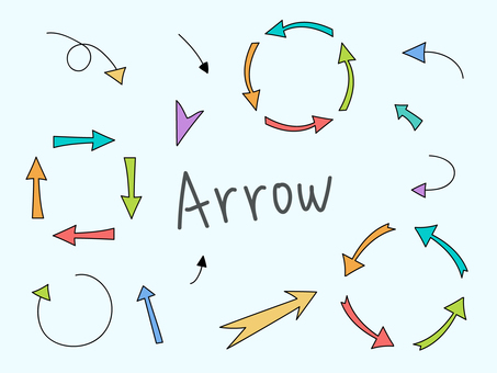 Hand drawn arrow parts set 1