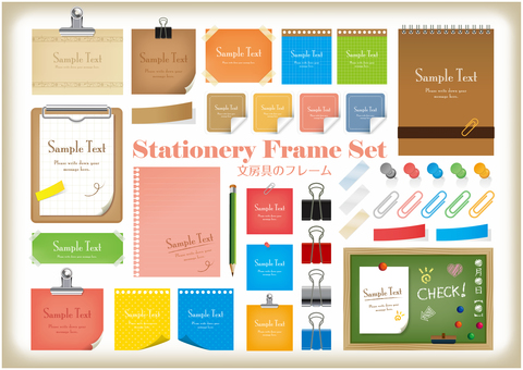 Notepad frame SET
