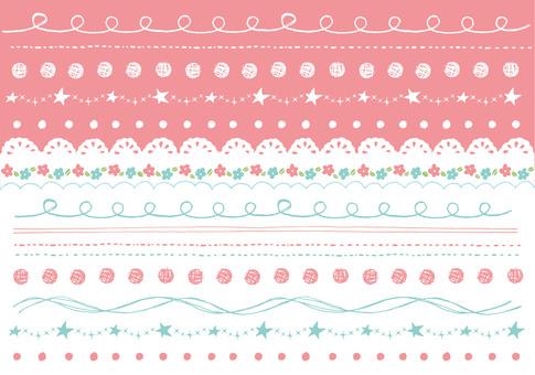 Hand drawn line pink