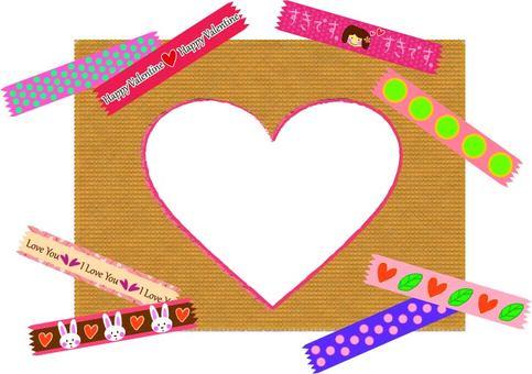 Masking tape Valentine & frame