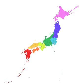 Japan Map_Regional Color Code
