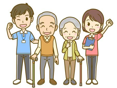 Elderly and nursing staff 01