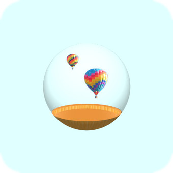 Glass container (balloon)