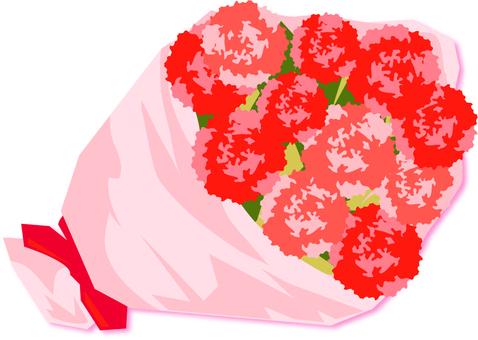 어머니의 날 꽃다발 카네이션