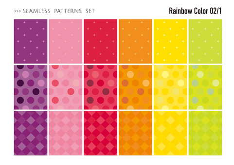 Seamless pattern set / warm color 02