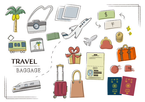 해외 여행 소지품 가방 준비